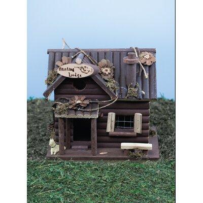 Hunting Lodge 10 in x 7 in x 6 in Birdhouse