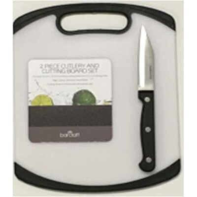 2 Piece Plastic Board and Knife