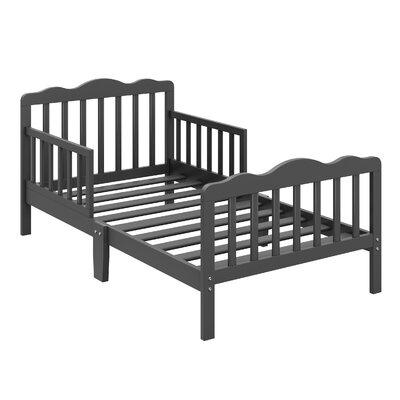 Hillside Toddler Slat Bed Bed Frame Color: Gray