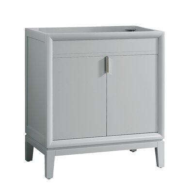"Emma 30"" Single Bathroom Vanity Base Base Color: Dove Gray/Brushed Nickel"