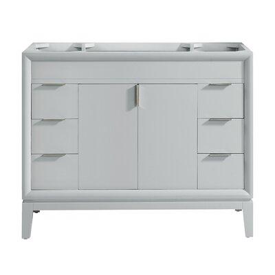 "Emma 42"" Single Bathroom Vanity Base Base Color: Dove Gray/Brushed Nickel"