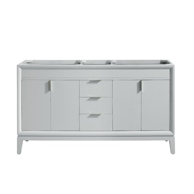 "Emma 60"" Double Bathroom Vanity Base Base Color: Dove Gray/Brushed Nickel"