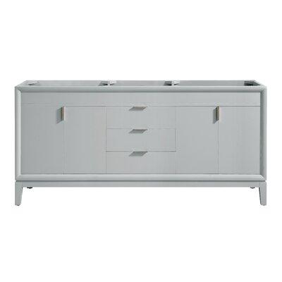 "Emma 72"" Double Bathroom Vanity Base Base Color: Dove Gray/Brushed Nickel"