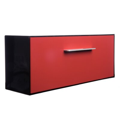Modern Angled Wall Mounted Mailbox Mailbox Color: Black Paprika (Red)