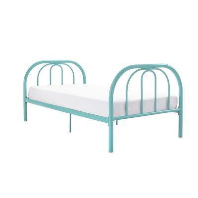 Dimatteo Platform Bed Bed Frame Color: Teal, Size: Full