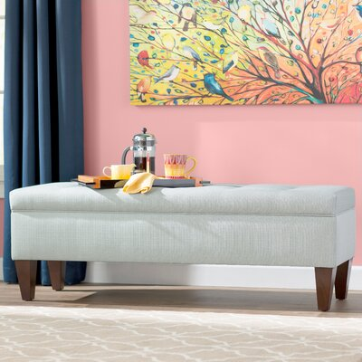 Gaither Upholstered Bench Color: Sea Mist Green