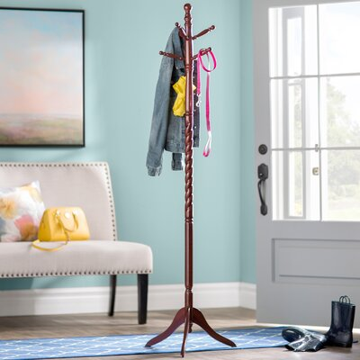 Traditional Wood Coat Stand Finish: Cherry