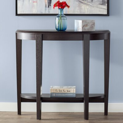 Blakeway Half Moon Console Table Color: Cappuccino