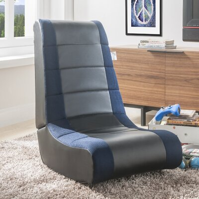 Pugsley Rocking Chair Fabric: Black/Blue