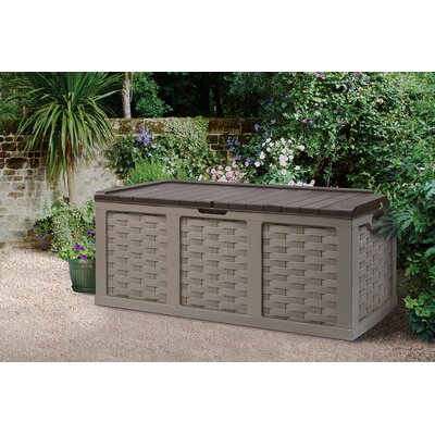 153 Gallon Plastic Deck Box Color: Mocha Brown