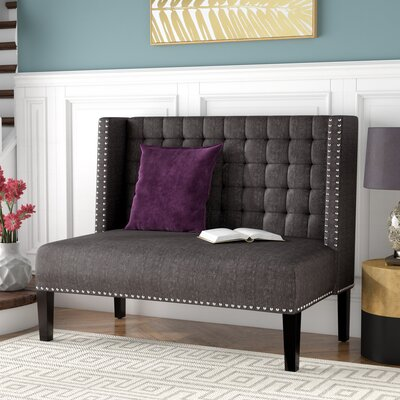 Veroniza Upholstered Bench Color: Charcoal