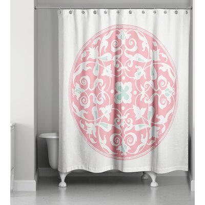 Clayborn Circle Shower Curtain Color: Pink