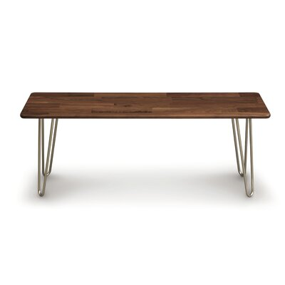 Essentials Wood Bench Color: Natural Walnut