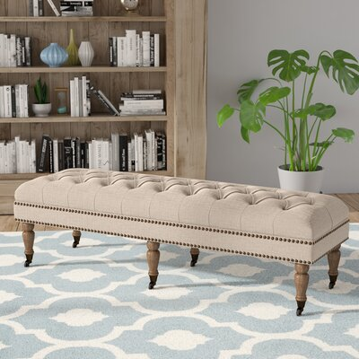 Walkerton Upholstered Bench Upholstery: Beige