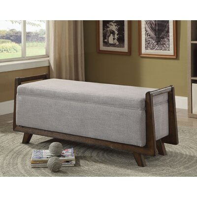 Creissant Upholstered Bench Color: Light Gray