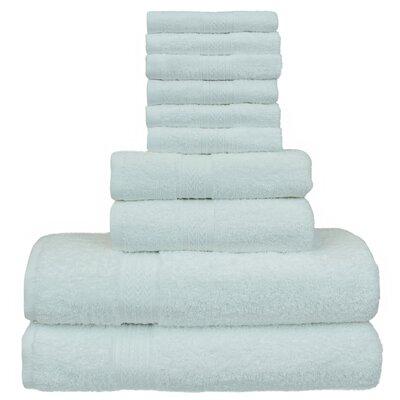 Isiah Eco Dobby Border 10 Piece 100% Cotton Towel Set