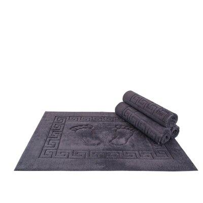 Mcgreevy Polyester Bath Rug Color: Gray