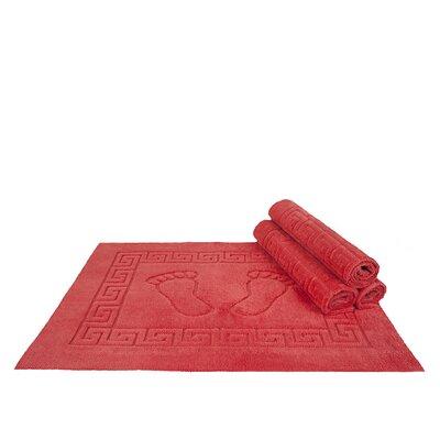 Mcgreevy Polyester Bath Rug Color: Coral