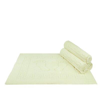 Mcgreevy Polyester Bath Rug Color: Cream