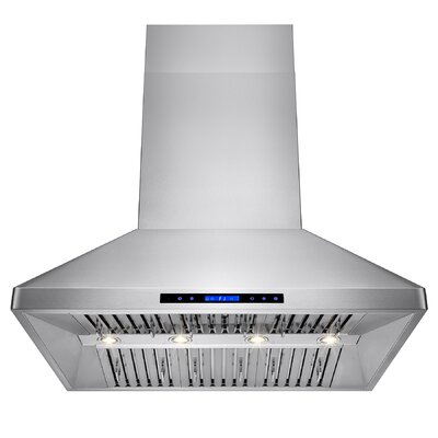 "48"" 557 CFM Ducted Wall Mount Range Hood with Remote"