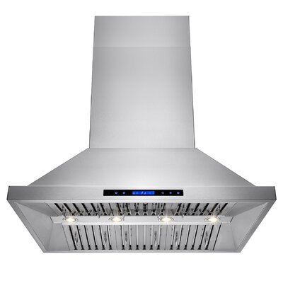 "42"" 557 CFM Ducted Wall Mount Range Hood with Remote"