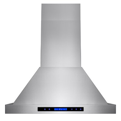 "30"" 471 CFM Ducted Wall Mount Range Hood with Remote"