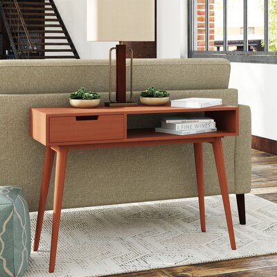 Brookline Mid-Century Console Table Color: Natural