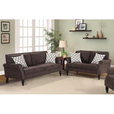 Lawncrest 2 Piece Living Room Set Color: Brown