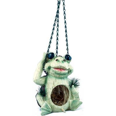 Frog 10 in x 7 in x 6 in Birdhouse