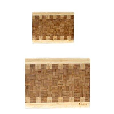 Chef 2 Piece Bamboo Cutting Board Set