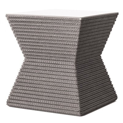 Hetzel Accent Stool Color: Gray/White MDF