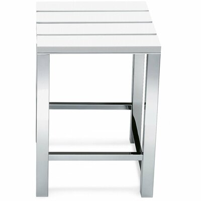 Simmerman Backless Vanity Stool Seat Color: White