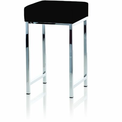 Simmerman Backless Vanity Stool Seat Color: Black