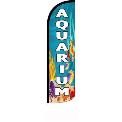 "Aquarium Polyester 11'6"" x 2'6"" Swooper Flag"