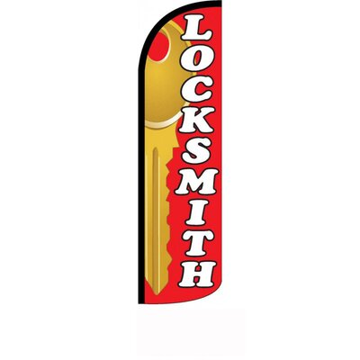 "Locksmith Polyester 11'6"" x 2'6"" Swooper Flag"