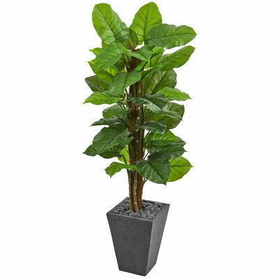 Large Leaf Artificial Floor Philodendron Plant in Planter