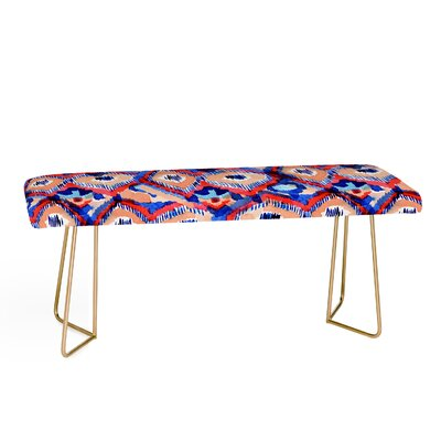 Cayenablanca Peacock Upholstered Bench