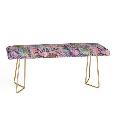 Schatzi Brown Reeya Tropical Upholstered Bench