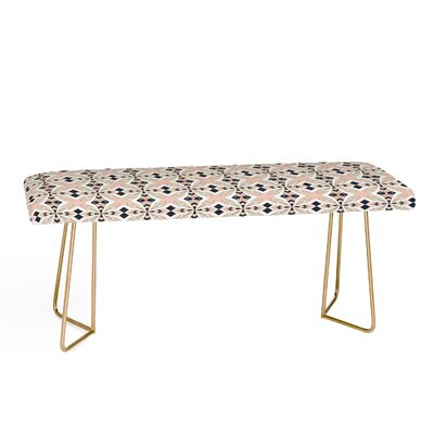 Marta Barragan Camarasa Mosaic Geometric Upholstered Bench