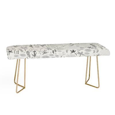 Iveta Abolina Floral Goodness Upholstered Bench