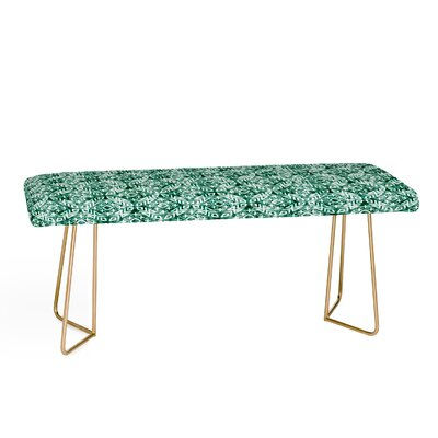 Little Arrow Co Modern Moroccan Emerald Upholstered Bench