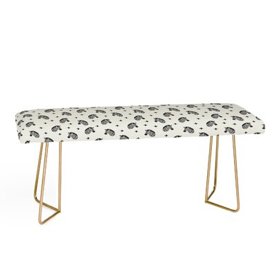 Little Arrow Co Modern Zebras Upholstered Bench