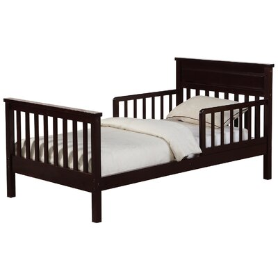 Villegas Toddler Slat Bed Bed Frame Color: Espresso