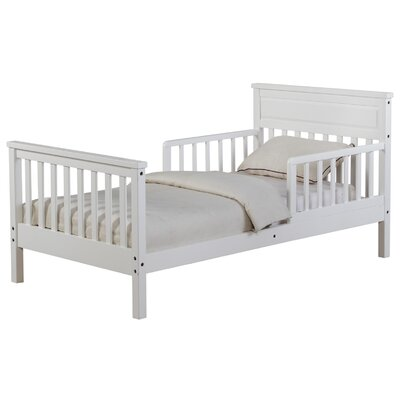 Villegas Toddler Slat Bed Bed Frame Color: White