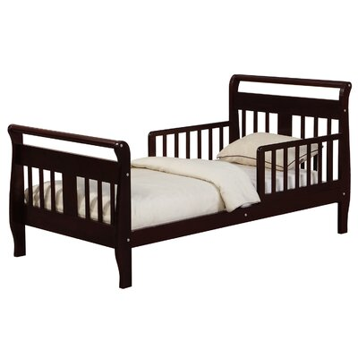 Villarreal Toddler Sleigh Bed Bed Frame Color: Espresso