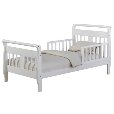 Villarreal Toddler Sleigh Bed Bed Frame Color: White