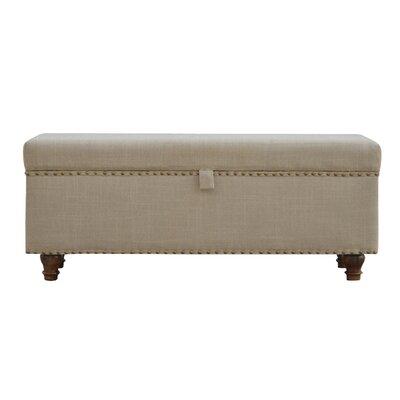 Pruneda Hallways Studded Lid-up Linen Bench