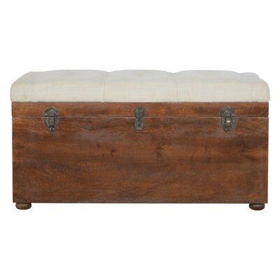 Patnaude D-Button Solid Wood Storage Bench