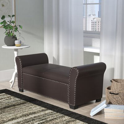 Grogg Faux Leather Storage Bench Upholstery: Espresso