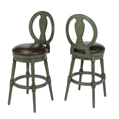 "Hasse 29"" Swivel Bar Stool Frame Color: Green"